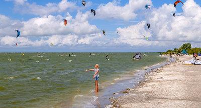 Windsurfing on Workum beach