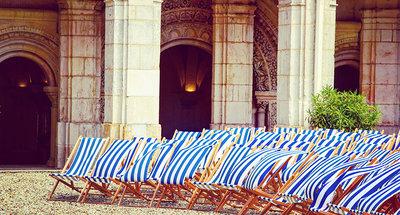 Deckchairs in the Abbey Saint-Germain