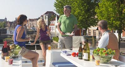 Top deck dining in Belgium