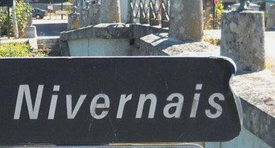 Nivernais sign in Burgundy