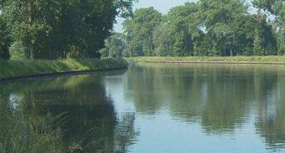 Stretch of Belgium waterway