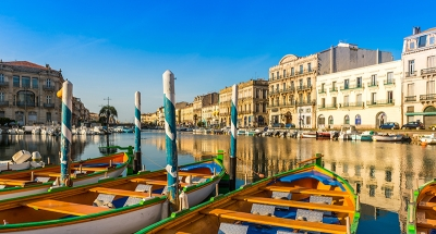 The beautiful canals of Sète