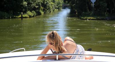 Relaxing on board Le Boat in Germany