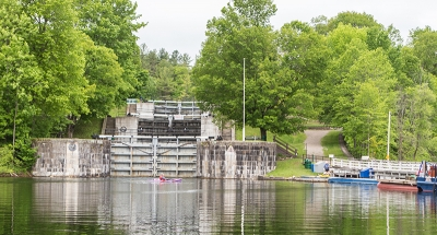 Passing through a lock on the magnificent Rideau