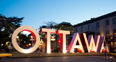 Iconic Ottawa sign in the city's heart