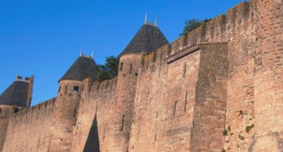 Walls of Carcassonne in the Midi