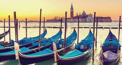 Venetian Gondolas, Italy
