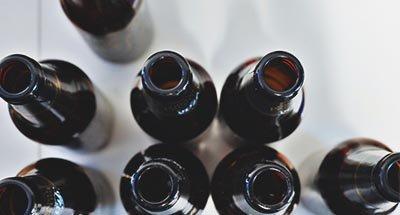 Beer bottles empty