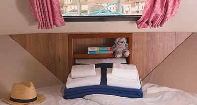 Grand classique cabins and bathrooms