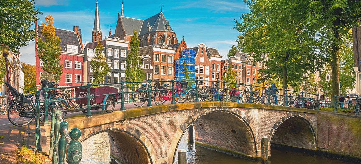 Bridge with bicycles, Amsterdam
