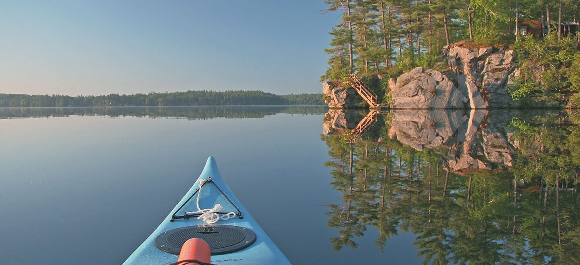 Canoe on Big Rideau Lake, Canada