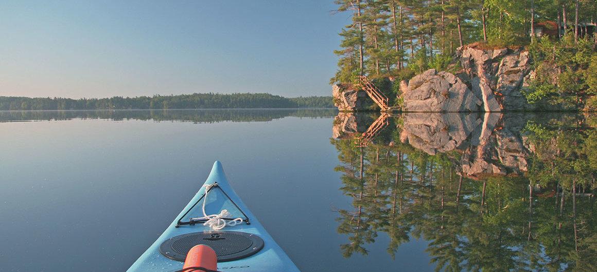 Canoe on Big Rideau Lake, Canada