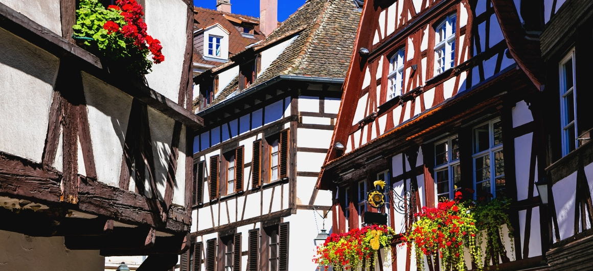 Timbered houses in Alsace