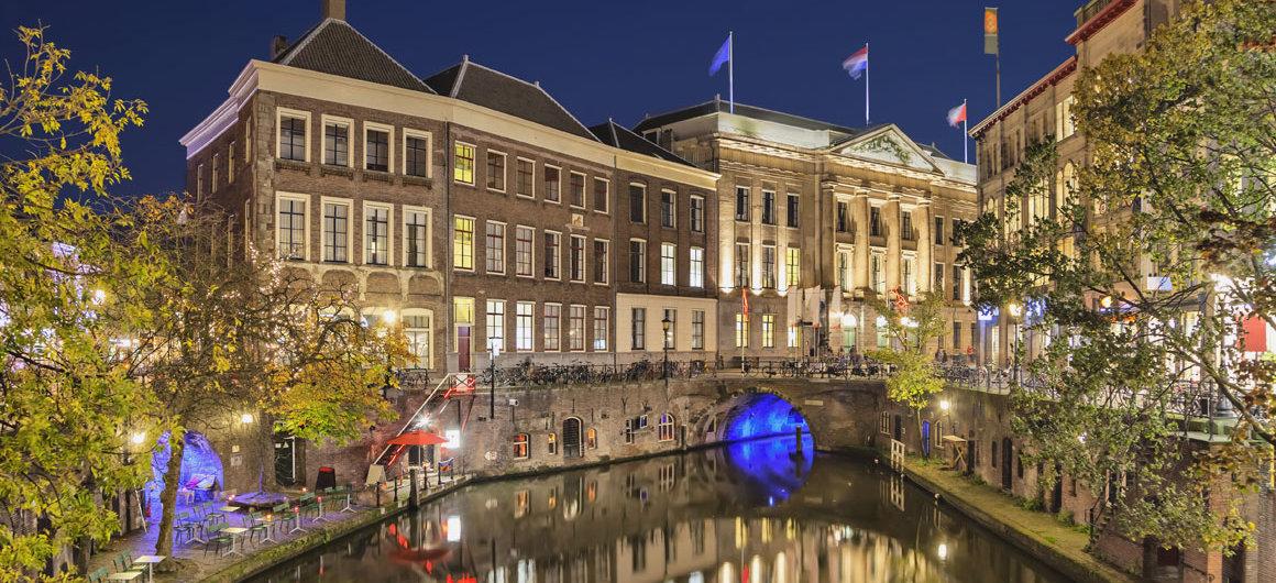 Nightime canal, Utrecht