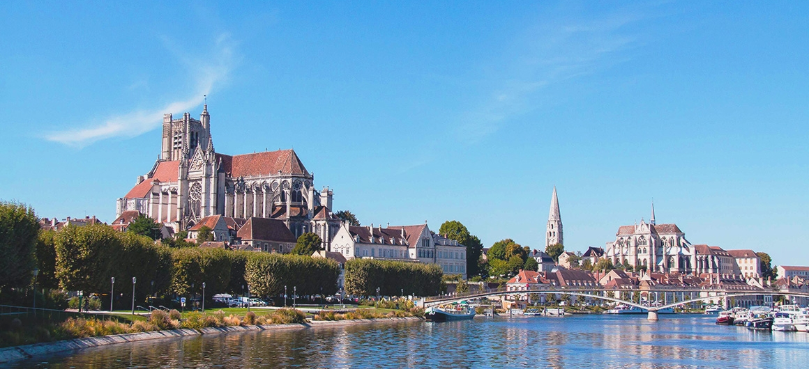 View from River in Auxerre