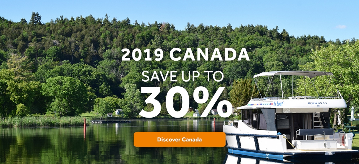 Save Up to 30% if you on your last-minute Rideau Canal houseboat rental in 2019