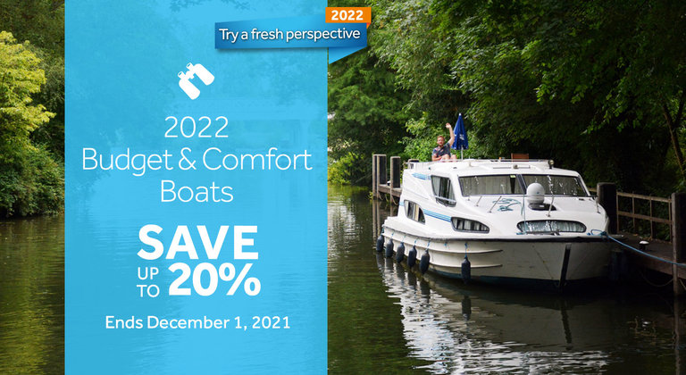Save up to 20% on Budget & Comfort Boats