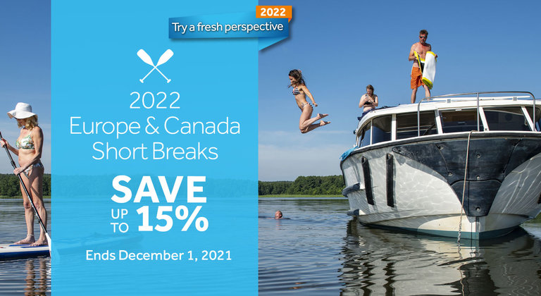 Save up to 15% on Short Breaks in Europe & Canada