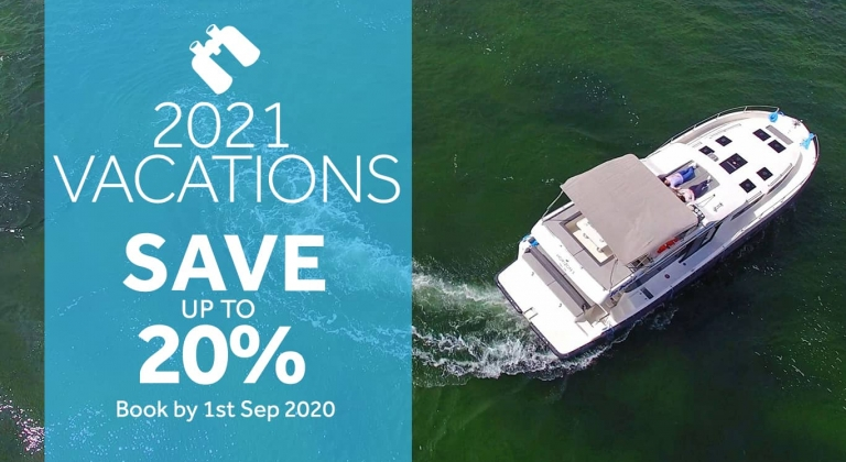 20% off 2021 boating vacations