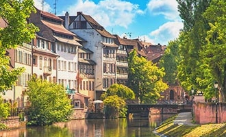 Strasbourg summer waterway