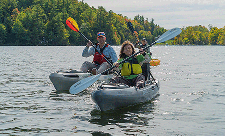 Paddling the Rideau Canal